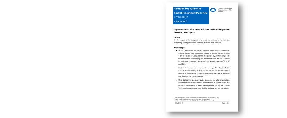 Scottish Procurement Policy Note - BIM